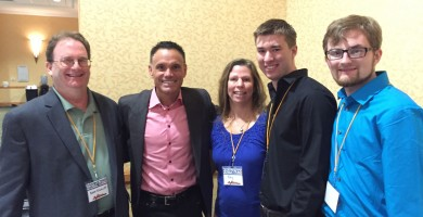 Kevin Harrington with Team